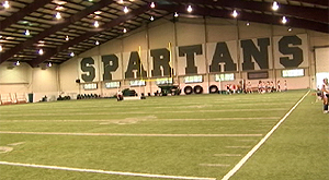 College Weekly takes a tour of Michigan State's campus to see where the golf team practices.