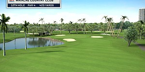 Course Flyover: Waialae Country Club's 9th Hole