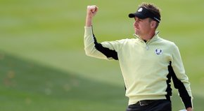Ian Poulter and Justin Rose defeated Tiger Woods and Steve Stricker, 2 and 1.