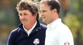 Zach Johnson and Jason Dufner defeated Lee Westwood and Francesco Molinari, 3 and 2.