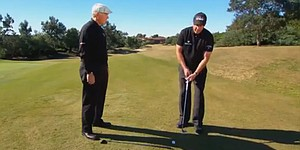 Mickelson's incredible flop shot over Roger Cleveland