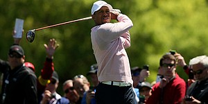 Video: Check out Tiger's swing at Tavistock Cup