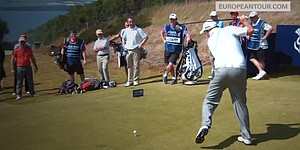 VIDEO: Trying to Happy Gilmore at Scottish Open