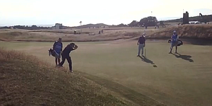 VIDEO: Phil Mickelson's backwards shot at Muirfield