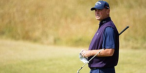 VIDEO: Thomas Bjorn breaks camera lens at Muirfield