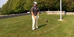 VIDEO: PGA Tour Canada players hits self with drive