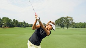 USC star Annie Park shows off her swing.