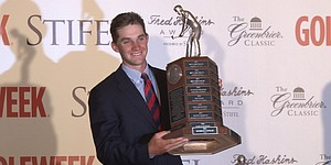 VIDEO: Patrick Rodgers wins Haskins Award