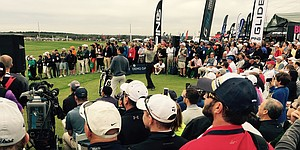 VIDEO: Bubba Watson hits Ping driver at Demo Day
