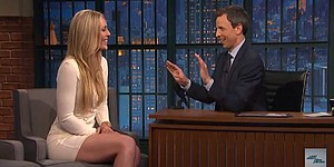 VIDEO: Tiger's girlfriend Lindsey Vonn talks golf with Seth Meyers